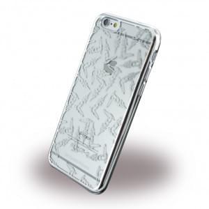 Trussardi - TRU6TEXTURE Texture - Silikon Cover / Handyhülle - Apple iPhone 6, 6s - Silber