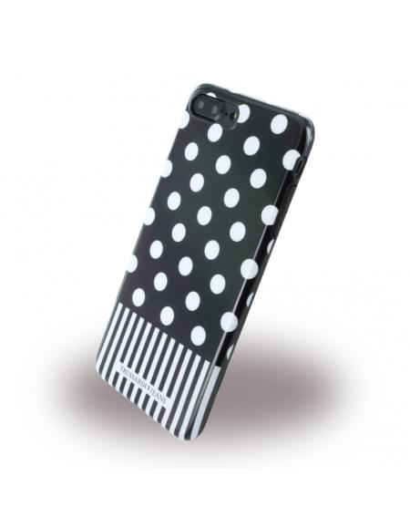 Trussardi - TRU7PPOIS Pois - Silikon Cover / Handyhülle - Apple iPhone 7 Plus - Schwarz