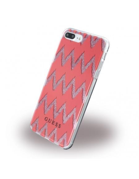 Original Guess - 3D Effect GUHCP7LCGRE - Silikon Case - Apple iPhone 7 Plus - Rot