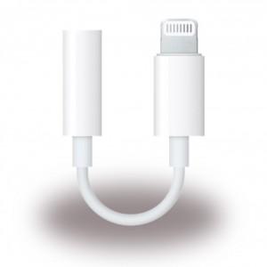 Original Apple - MMX62ZM/A - Adapter / Kopfhöreranschluss - Lightning auf 3,5mm Klinke - Weiss