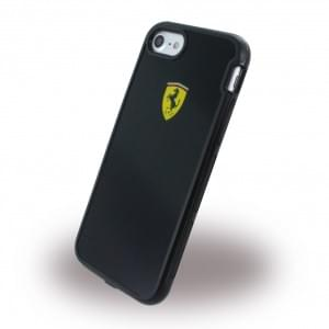 Ferrari - Racing Shockproof Handyhülle - Apple iPhone 7 / 8 - Schwarz