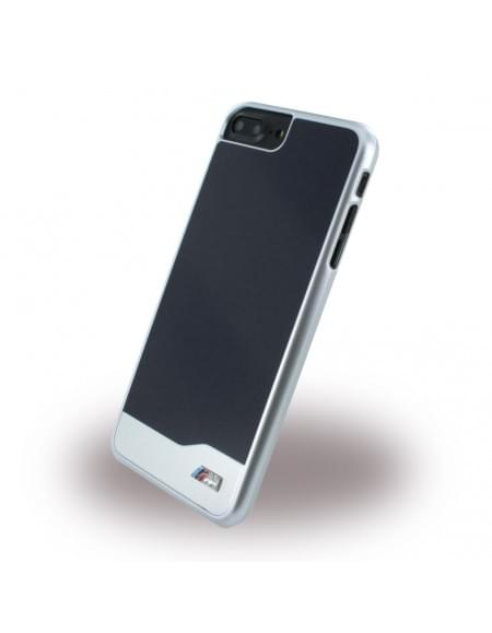 Original BMW - BMHCP7LMDBK Brushed Metal Hardcover Apple iPhone 7 Plus - Schwarz