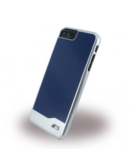 Original BMW - BMHCP7LMDBL Brushed Metal Hardcover Apple iPhone 7 Plus - Blau