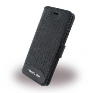 Cerruti 1881 - CEFLBKP7MCBK Crocodile - Leder Book Cover - Apple iPhone 7 - Schwarz