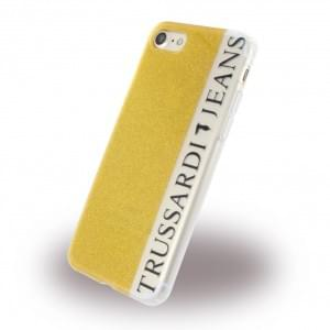 Trussardi Glitter - Silikon Cover - Apple iPhone 7 / 8 - Gold