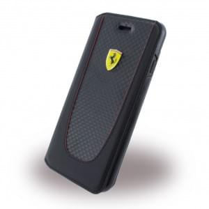 Ferrari - Pit Stop Carbon Book Cover - Apple iPhone 8 / 7 - Schwarz