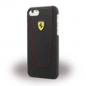 Ferrari - Pit Stop FEPIHCP7BK - Carbon Hardcover - Apple iPhone 7 - Schwarz