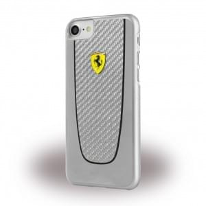 Ferrari - Pit Stop Real Carbon Hardcover - Apple iPhone 7 / 8 - Silber