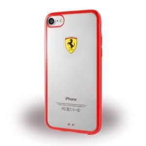 Ferrari - Racing Shield Silikon Cover - Apple iPhone 7 / 8 - Rot