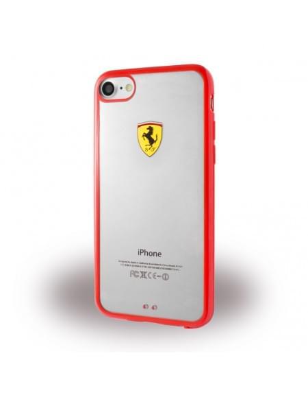 Original Ferrari - Racing Shield FEHCP7RE - Silikon Cover - Apple iPhone 7 - Rot