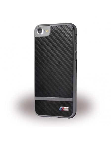 Original BMW Aluminium Stripe / Hardcover / für Apple iPhone 7 - Schwarz