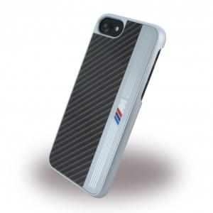 BMW Aluminium Stripe - Hardcover - Apple iPhone 8 / 7 - Schwarz