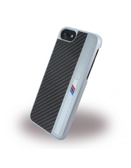 Original BMW Aluminium Stripe - Hardcover für Apple iPhone 7 - Schwarz