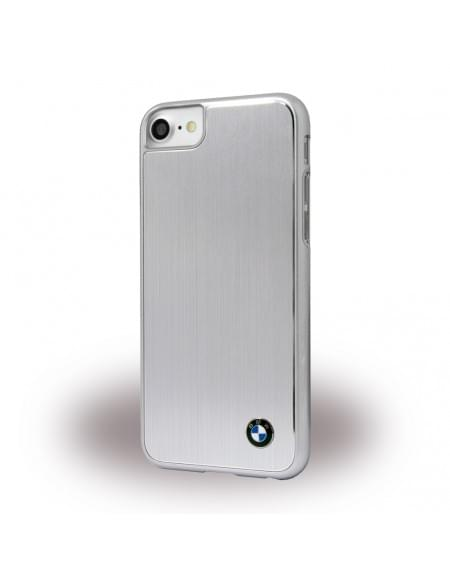 Original BMW Brushed Aluminium - Hardcover für Apple iPhone 7 - Silber