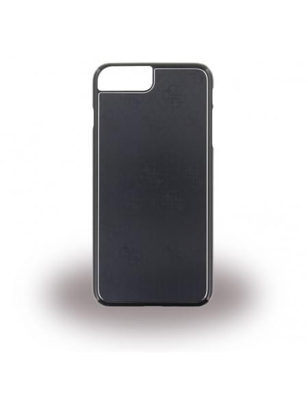 Original Guess - 4G Metallic GUHCP7LMEBK - Hard Cover - Apple iPhone 7 Plus - Schwarz
