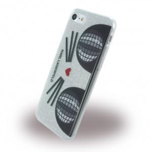 Karl Lagerfeld - K-Kocktail KLHCP7KKO3DCHS - Glitter Silikon Cover - Apple iPhone 7 - Silber
