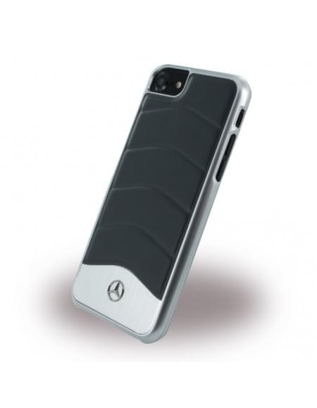 Original Mercedes Benz - Wave III Aluminium MEHCP7CUSDGR - Handyhülle - Apple iPhone 7 - Schwarz
