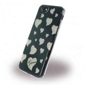 Guess - Hearts Silikon Cover - Apple iPhone 7 / 8 - Schwarz