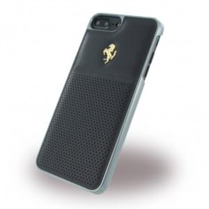 Ferrari - GT Berlinetta FEGTBGHCP7LBK - Hardcover / Schutzhülle Leder - Apple iPhone 7 Plus - Schwarz / Gold