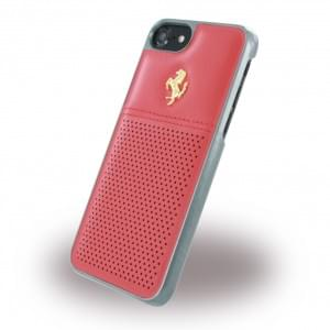 Ferrari - GT Berlinetta FEGTBGHCP7RE - Leder Hardcover - Apple iPhone 7 - Rot / Gold