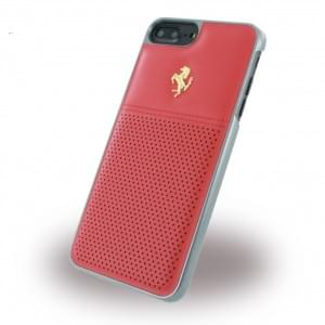 Ferrari - GT Berlinetta FEGTBGHCP7LRE - Leder Hardcover - Apple iPhone 7 Plus - Rot / Gold