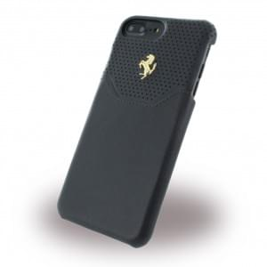 Ferrari - Lusso FEHOGHCP7LBK - Leder Hardcover - Apple iPhone 7 Plus - Schwarz / Gold