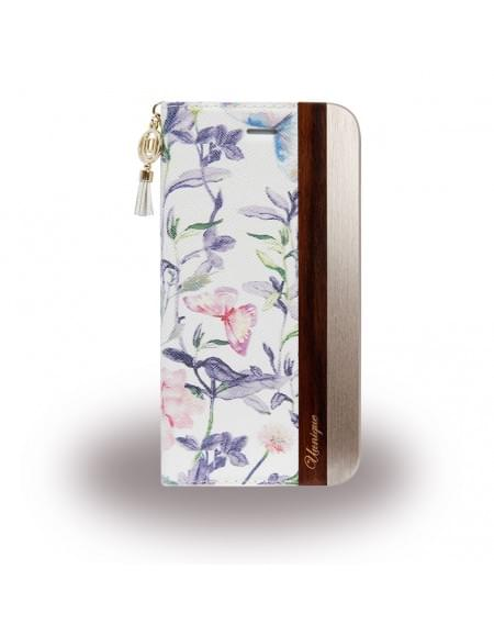 Uunique - Spring Flower UUFFIP7HSF06 - Book Cover - Apple iPhone 7 - Weiss / Gold