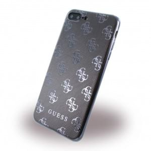 Guess - 4G GUHCP7L4GGGU - Silikon Cover - Apple iPhone 7 Plus - Schwarz / Gun Metal