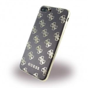 Guess - 4G GUHCP7L4GGGO - Silikon Cover - Apple iPhone 7 Plus - Schwarz / Gold