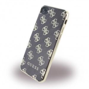 Guess - 4G GUHCP74GGGO - Silikon Cover - Apple iPhone 7 - Schwarz / Gold