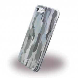 Cerruti 1881 Camouflage Silikon Cover für Apple iPhone 7 / 8 - Grün