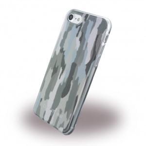 Cerruti 1881 Camouflage Silikon Cover für Apple iPhone 7 / 8 - Grün