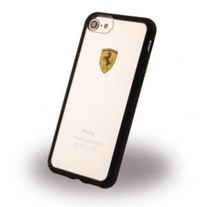 Ferrari Racing Shield Frame Cover für Apple iPhone 7 / 8 Schwarz