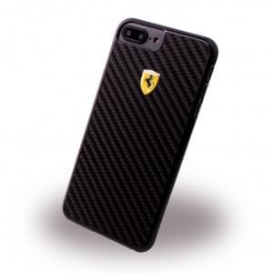 Ferrari - Pit Stop FERCAHCP7LBK Carbon Hardcover - Apple iPhone 7 Plus Schwarz