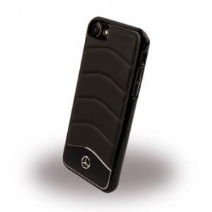 Mercedes Benz Wave III Aluminium Handyhülle für Apple iPhone 7 / 8 Schwarz