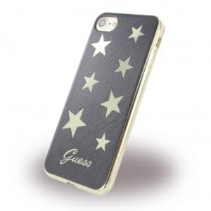 Guess - Stars Silikon Cover für Apple iPhone 7 / 8 - Schwarz