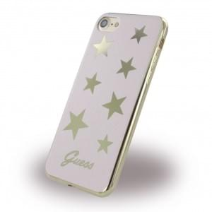 Guess - Stars Silikon Cover für Apple iPhone 7 / 8 - Pink