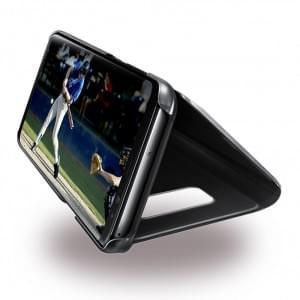 Samsung - EF-ZG955CB Clear View Hülle / Standing Cover für Galaxy S8 Plus G955F- Schwarz
