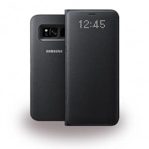 Samsung - EF-NG955PB - LED Hülle View Cover / Book Case für Galaxy S8 Plus G955F - Schwarz
