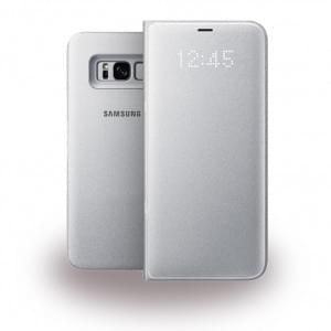 Samsung - EF-NG955PS - LED Hülle View Cover / Book Case für Galaxy S8 Plus G955F - Silber