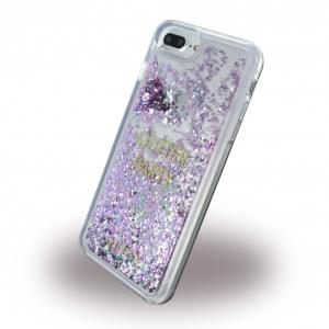Guess Liquid Glitter Party GUHCP7LGLUQPU Hardcover - Apple iPhone 7 Plus - Lila
