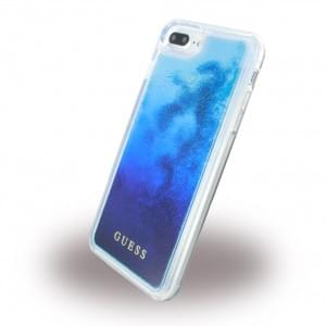 Guess Liquid Glitter Degrade Hardcover für Apple iPhone 8 Plus / 7 Plus - Blau