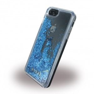 Guess Liquid Glitter Hardcover für Apple iPhone 8 Plus / 7 Plus - Blau