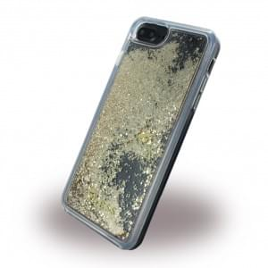 Guess Liquid Glitter Hardcover für Apple iPhone 8 Plus / 7 Plus - Gold