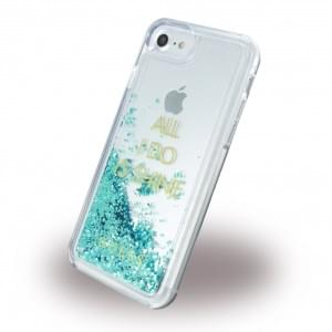 Guess Liquid Glitter Shine Hardcover für Apple iPhone 7 / 8 - Blau
