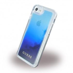 Guess Liquid Glitter Degrade Hardcover für Apple iPhone 7 / 8 - Blau