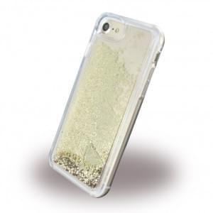 Guess Liquid Glitter Hardcover für Apple iPhone 7 / 8 - Gold