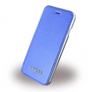 Guess IriDescent Book Cover für Apple iPhone 7 / 8 - Blau