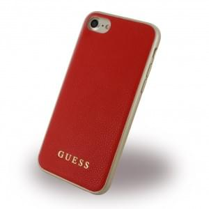 Guess IriDescent GUHCP7IGLRE Hardcover für Apple iPhone 7 / 8 - Rot