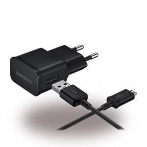 Original Samsung EP-TA12EBE Ladegerät + Ladekabel USB auf Micro USB - Schwarz